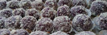 Cara Membuat Kelepon UBi Ungu, kelepon ubi ungu siap disajikan